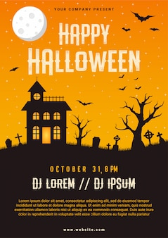 Happy halloween business flyer entwurfsvorlage