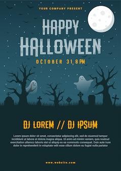 Happy halloween business flyer vorlage