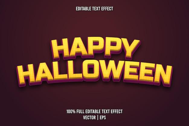 Happy halloween editierbarer texteffekt retro-stil