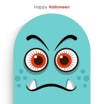 Happy halloween-grußkarte für die feier des festivals
