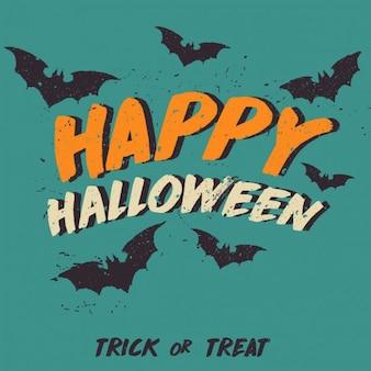 Happy halloween hintergrund mit fledermäuse