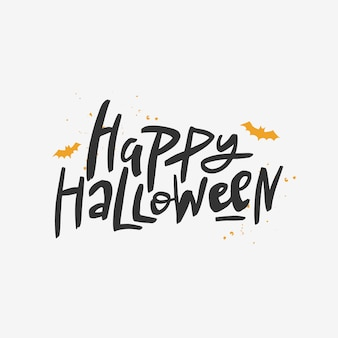 Happy halloween inschrift.