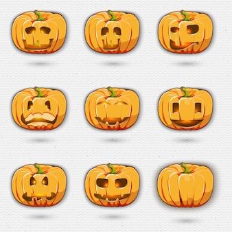 Happy halloween kürbis gesetzt