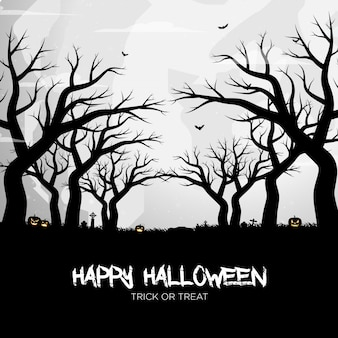 Happy halloween kürbis silhouette