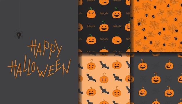 Happy halloween nahtlose muster