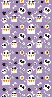 Happy halloween nahtloses muster