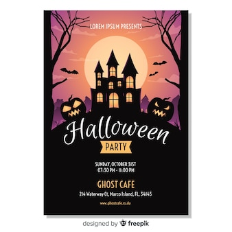 Happy halloween party plakat vorlage