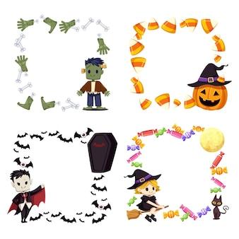 Happy halloween quadratischer rahmen