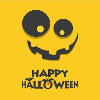 Happy halloween scary jack o lantern