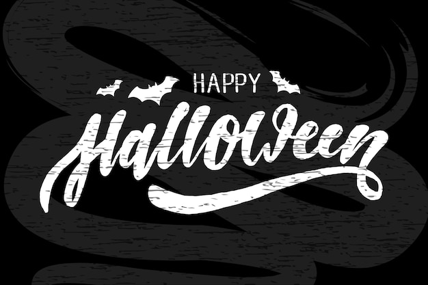 Happy halloween schriftzug kalligraphie pinsel