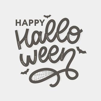 Happy halloween schriftzug kalligraphie