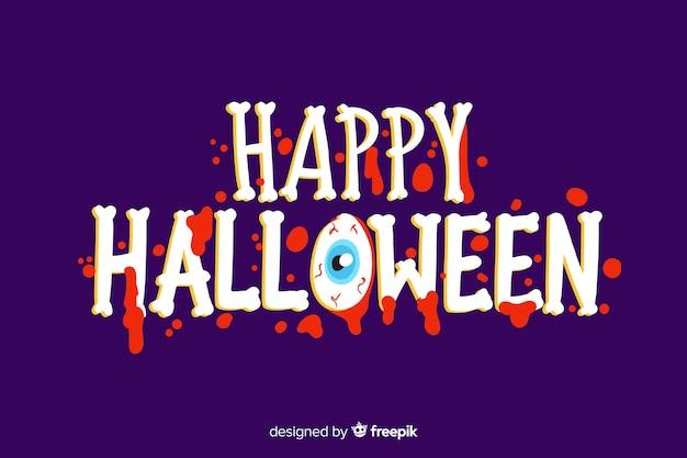 Happy halloween schriftzug mit gruseligen schrift