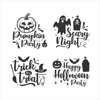 Happy halloween schriftzug sammlung