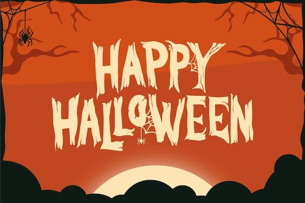 Happy halloween schriftzug sonnenuntergang