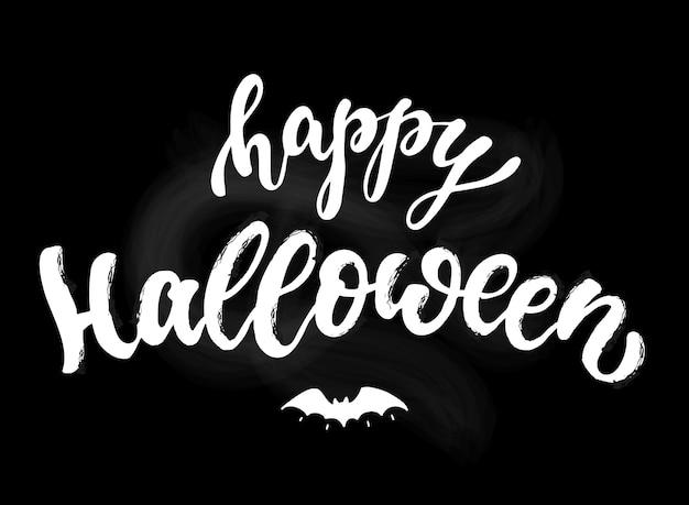 Happy halloween schriftzug