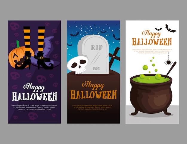 Happy halloween set karten festgelegt