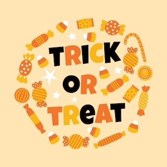 Happy halloween süße süßigkeiten