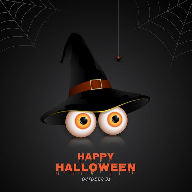 Happy halloween süßes oder saures augen