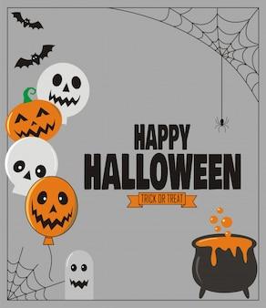 Happy halloween süßes oder saures