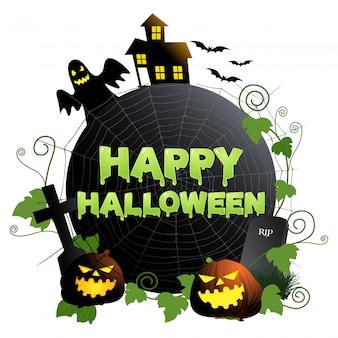 Happy halloween-symbol oder banner