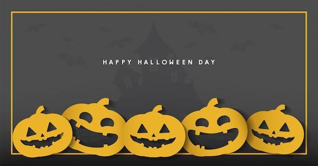 Happy halloween tag banner Premium Vektoren