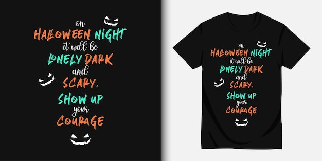 Happy halloween und t-shirt design