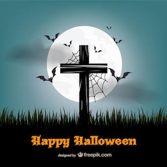 Happy halloween vektor mit quer
