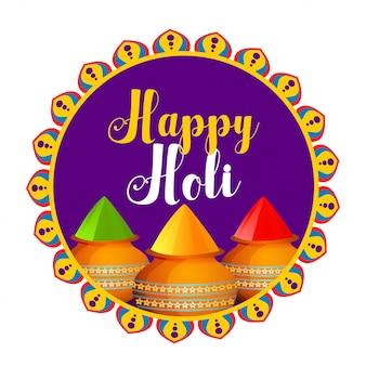 Happy holi feier