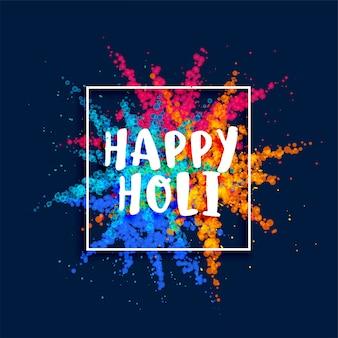Happy holi festival farbpulver platzen hintergrund