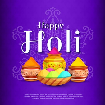 Happy holi festival social media post design hintergrund