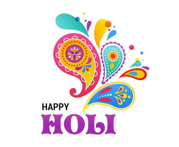 Happy holi, indischer feiertag und festfeier