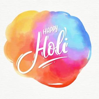 Happy holi schriftzug nachricht