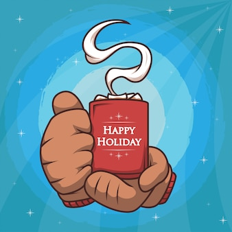 Happy holiday heiße schokolade
