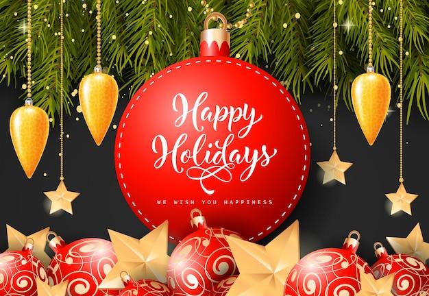 Happy holiday schriftzug am tag
