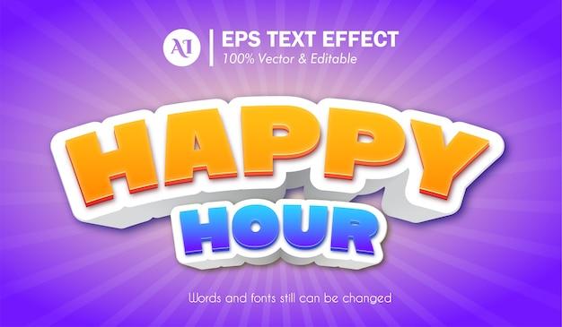 Happy hour 3d-texteffekt