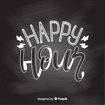 Happy hour event schriftzug