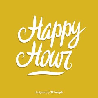Happy hour-typografie