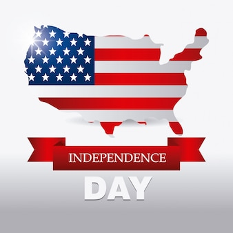 Happy independence day 4. juli usa design