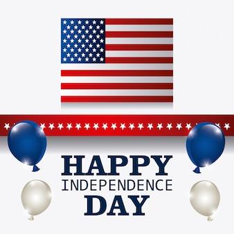 Happy independence day 4. juli usa design