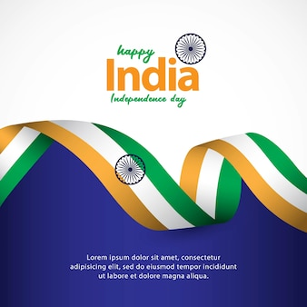 Happy india independence day und tag der republik feiern