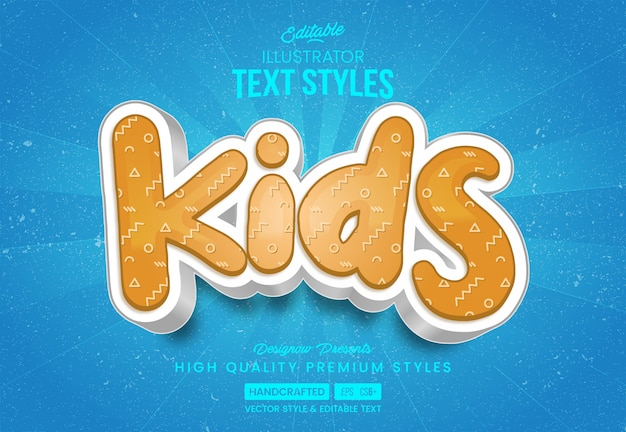 Happy kids text style