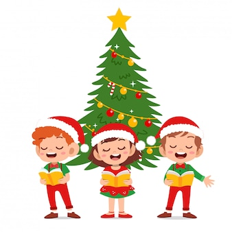 Happy kids weihnachten singen musical