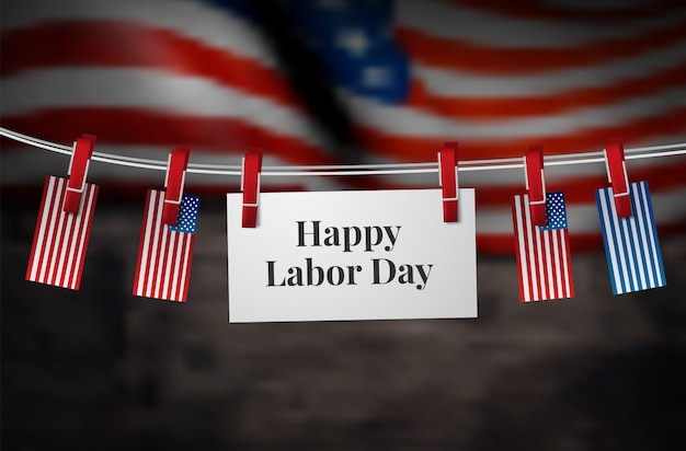 Happy labor day-banner. designvorlage. vektor-illustration