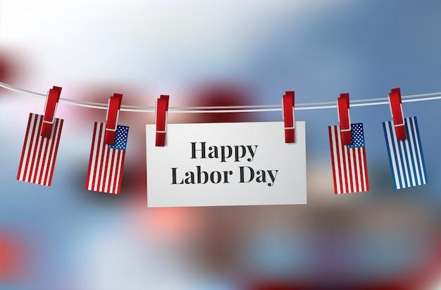 Happy labor day-banner. designvorlage. vektor-illustration