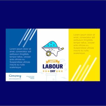 Happy labor day company trifold broschüre