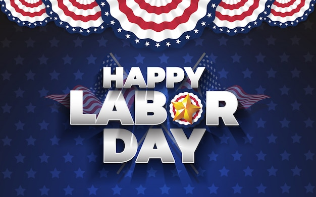 Happy labor day hintergrund