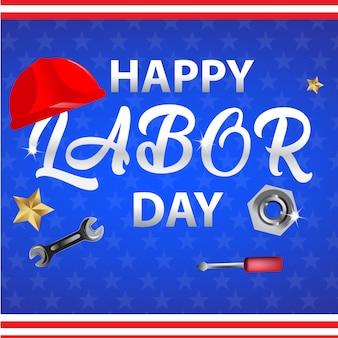 Happy labor day hintergrund.