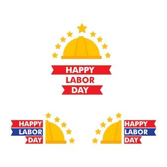 Happy labor day illustration workingmans holiday illustration design