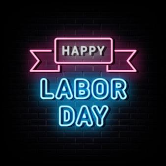 Happy labor day verkauf leuchtreklame