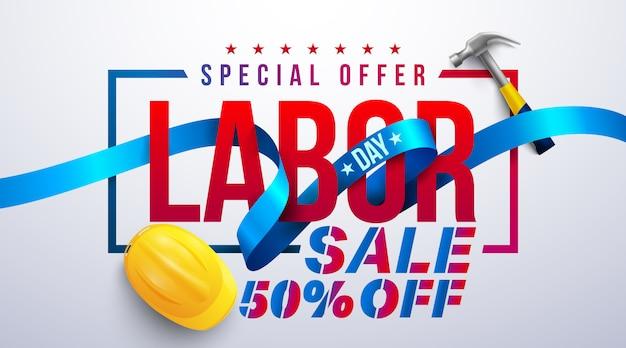 Happy labor day verkaufsbanner